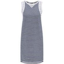 DREIMASTER Kleid blau / weiß
