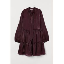H & M - Kleid mit Schluppe - Purple - Damen
