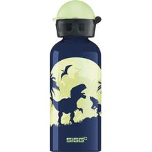 SIGG Alu-Trinkflasche Glow in the Dark Moon Dinos, 400 ml blau-kombi