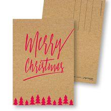 """Frau Schnobel GrafikWeihnachtskarten \Merry Christmas – D\""""4er Set"""""""