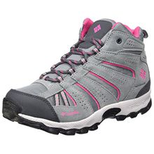 Columbia Mädchen Youth North Plains Mid Waterproof Trekking-& Wanderhalbschuhe, Grau (Grey Ash/Ultra Pink), 37 EU