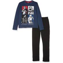 Star Wars Jungen Zweiteiliger Schlafanzug 162066, Bleu Nuit/Marine, 10 Jahre