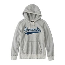 Abercrombie & Fitch Sweatshirt 'HERITAGE LOGO POPOVER 3CC' blau / grau