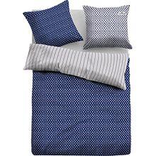 TOM TAILOR Wendebettwäsche blau-hellgrau Größe 155x220 cm (80x80 cm)