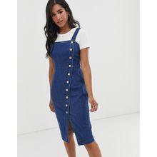 Vero Moda - Jeanskleid mit durchgehender Knopfleiste - Blau