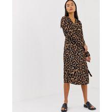 b.Young - Wickelkleid mit Leopardenmuster - Mehrfarbig
