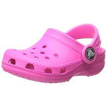 crocs Unisex-Kinder Classic Kids Clogs, Pink (Neon Magenta), 27/29 EU