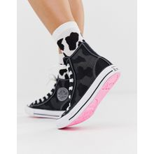 Converse - Chuck Taylor All Star Hi - Schwarze Sneaker aus Mesh - Schwarz