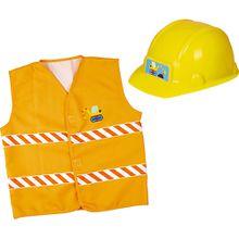 Kleine Freunde: Verkleidungsset Bauarbeiter (Helm+Weste) Jungen Kinder
