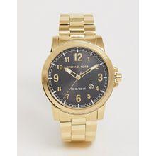 Michael Kors - Armbanduhr für Herren mit schwarzem Zifferblatt - Gold