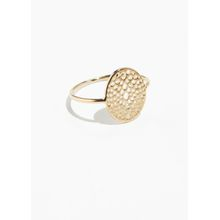 Cut Out Pendant Ring - Gold