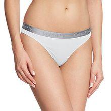 Calvin Klein Damen String RADIANT COTTON - THONG, Gr. 36 (Herstellergröße: S), Weiß (WHITE 100)