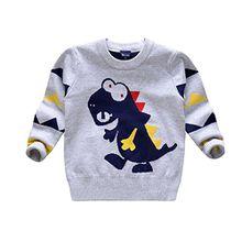 Garsumiss Jungen Pullover Gestrickte Pullover Kinder Pullover Kleinkind Dinasour Pullover Baby Kleidung