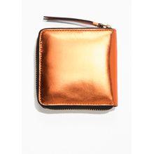 Leather Zip Wallet - Brown