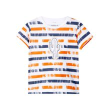 NAME IT T-Shirt blau / orange / weiß