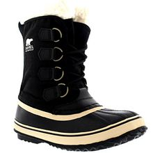 Sorel Damen Winter Carnival Schnee Regen Wolle Wasserdicht Stiefel - Schwarz - 39