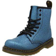 Dr. Martens Unisex-Kinder Delaney GLTR Klassische Stiefel, Blau (Laser Lake Blue 461), 36 EU