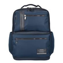 SAMSONITE Openroad Weekender Rucksack Leder 48 cm Laptopfach dunkelblau / schwarz