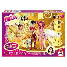 Glitzerpuzzle Mia and Me - Mia im Elfenpalast - 200 Teile