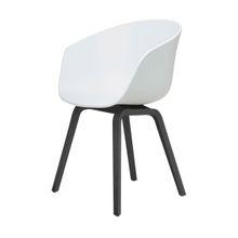 About a Chair AAC22 Stuhl gebeizt weiß