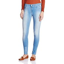 Replay Damen Slim Jeanshose Rose, Gr. W26/L32 (Herstellergröße: 26), Blau (Blue Denim 10)