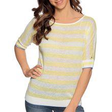 Tommy Hilfiger Strickshirt in gelb für Damen