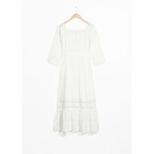 Eyelet Maxi Dress - White