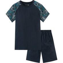 SCHIESSER Schlafanzug für Jungen schwarz