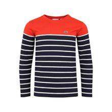 LACOSTE Pullover kobaltblau / rot / weiß