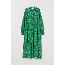 H & M - Kleid mit Kragen - Green - Damen