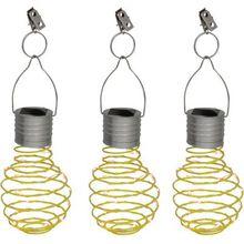 Näve 3er-Set LED Solar-Dekoleuchte gelb