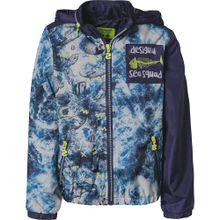 Desigual Übergangsjacke nachtblau / neongrün / weiß