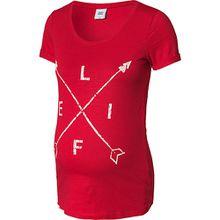 MLSTELLA S/S JERSEY TOP A. V. - Umstandsshirts - weiblich rot Damen Kinder