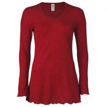 Engel - Women's Longshirt mit Rollsaum L/S - Merinounterwäsche Gr 34 / 36;38 / 40;42 / 44;46 / 48 grau;rot