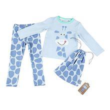 Sigikid Mädchen Zweiteiliger Schlafanzug Pyjama, Mini, Blau (Halogen Blue 734), 104