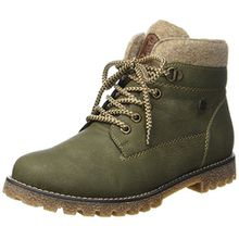 Rieker Kinder Mädchen K1568 Combat Boots, Grün (Forest/Wood/Chestnut), 37 EU