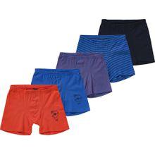 SCHIESSER Unterhosen-Set blau / rot