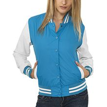Urban Classics Damen Collegejacke Jacke Ladies Light College Jacket, Gr. 38 (Herstellergröße: M), Blau (tur/wht 215)