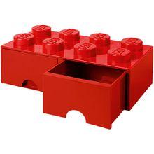LEGO Schubladenbox Storage Brick 8er Stein rot