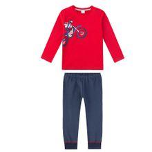 SANETTA Schlafanzug blau / nachtblau / rot / weiß