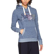 Superdry Damen Sport Kapuzenpullover G20017XP, Blu (Navy Heather), Medium