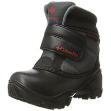 Columbia Unisex-Kinder Childrens Rope Tow Kruser Schneestiefel, Schwarz (Graphite, Bright Red 053), 30 EU