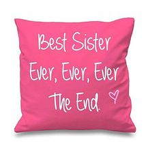 "60 Second Makeover Limited 'Rosa Kissenbezug Best Sister Ever Ever Ever The End 16""x 16Mum Geschenkidee für Freunde Deko Kissen Haus Muttertag"