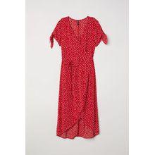 H & M - Wickelkleid aus Kreppstoff - Red - Damen