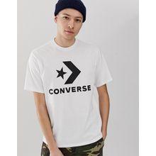 Converse - Weißes T-Shirt mit großem Logo - Weiß
