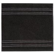 Vossen 1153240790 Cult de Luxe Waschlappen/Seiftuch, 30 x 30 cm, schwarz