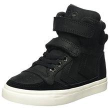 Hummel Unisex-Kinder Stadil Oiled High JR Hohe Sneaker, Schwarz (Black), 33 EU