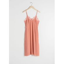 Silk Slip Dress - Orange