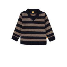 STEIFF Pullover hellbraun / schwarz