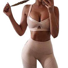 Damen Trainingsanzug Sport Pullover Sport Anzug Yoga Gedruckte Workout Fitness Sportbekleidung Set BH Leggings Elastische Meedot